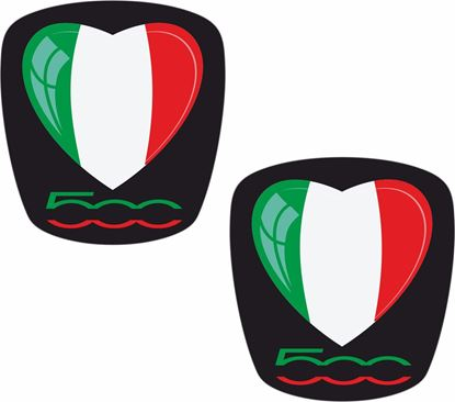 Picture of Fiat  500  OE Badge overlay Stickers / Decals