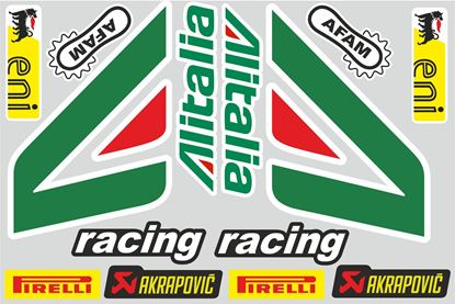 "Picture of ""Alitalia""  Track and street race sponsor Sticker Sheet"