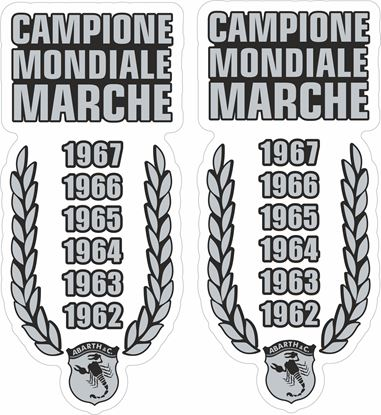 Picture of Fiat  Abarth Campione Mondiale Marche Stickers / Decals