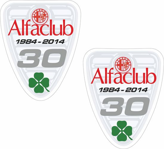 "Picture of Alfa Romeo  ""Alfa Club"" Wing Decals / Stickers"