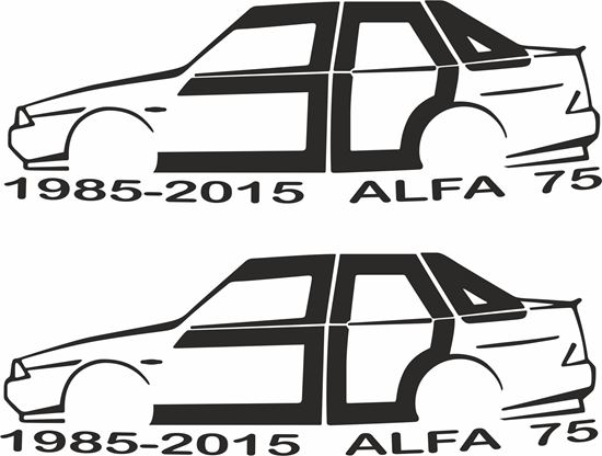 Picture of Alfa Romeo 75 1985 - 2015   Decals / Stickers