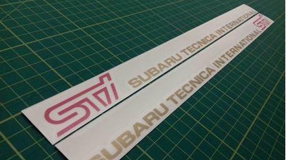Picture of Subaru Impreza STi version 1 - 6 Door Decals / Stickers GOLD