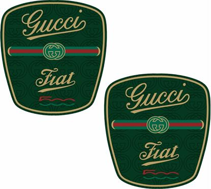 Picture of Fiat  500 Gucci OE Badge overlay Stickers / Decals