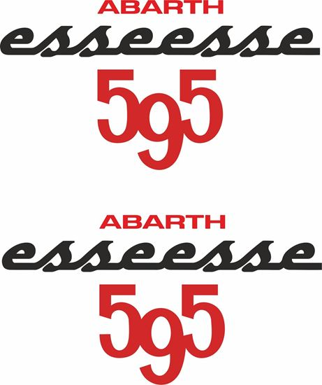 """Picture of Fiat """"Abarth esseese 595 """" Stickers / Decals"""