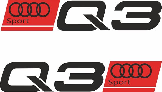"""Picture of Audi  """"Q3 Sport"""" Decals / Stickers"""
