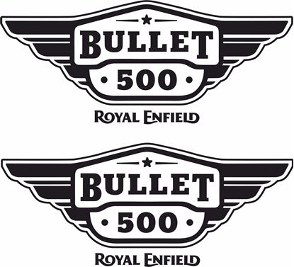 Picture of Royal Enfield Bullet 500  panel or Tank Decals / Stickers