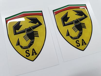Picture of Fiat Scuderia Abarth wing Badges 80mm