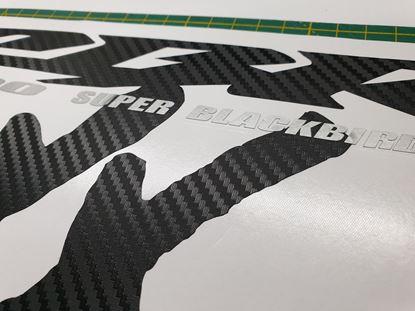 Picture of Honda CBR Super Blackbird 2000 - 2004 full replacement Decals / Stickers (Carbon Fibre)