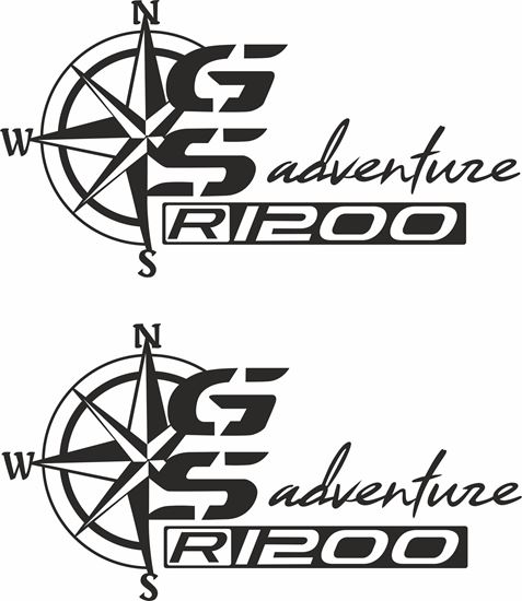 Picture of BMW R 1200GS Adventure Pannier / Panel  Decals / Stickers