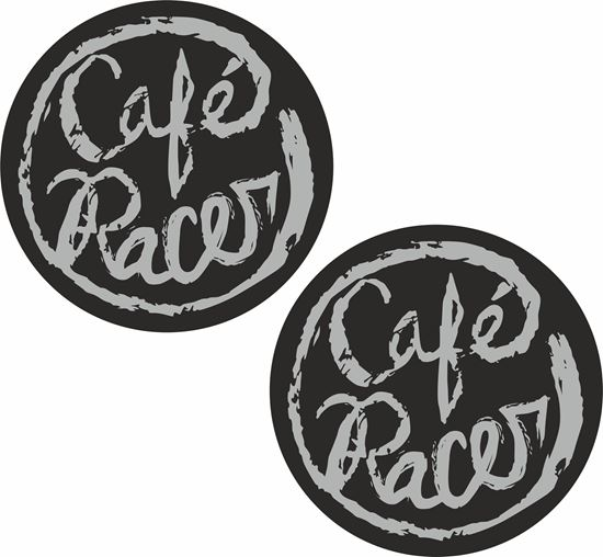 """Picture of """"Cafe Racer"""" Decals / Stickers"""