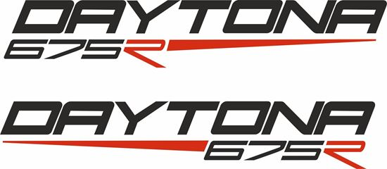 """Picture of Triumph """"Daytons 675R""""  Decals / Stickers"""