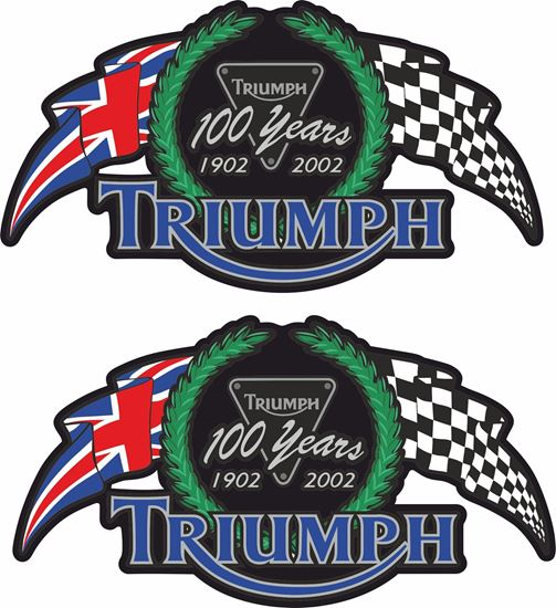 """Picture of """"Triumph 100 Years"""" Decals / Stickers"""