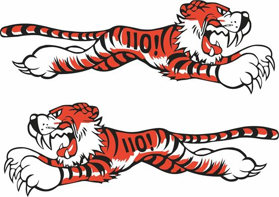Picture of Triumph Running leaping Tiger 110  Decals / Stickers