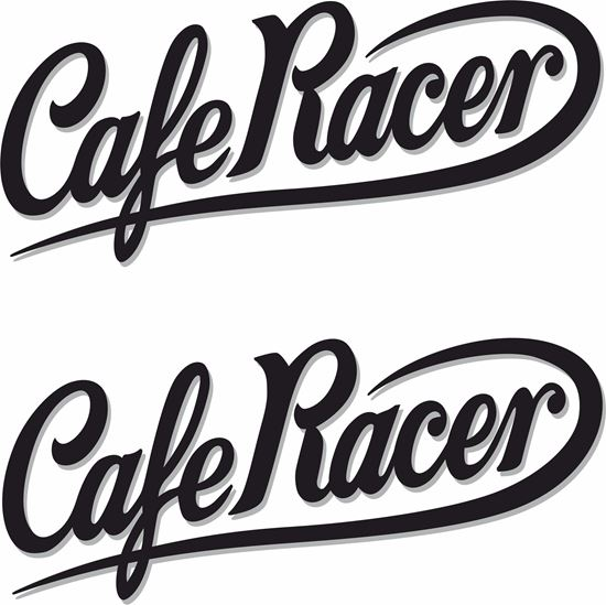 Picture of Cafe Racer Decals / Stickers (Two Colour)