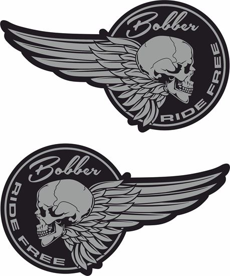 """Picture of """"Bobber Ride Free"""" Decals / Stickers"""