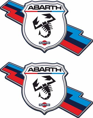 Picture of Fiat Abarth Martini Stickers / Decals