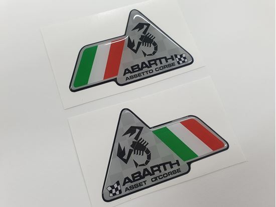Picture of Fiat Abarth Assetto Corse wing Badges 80mm