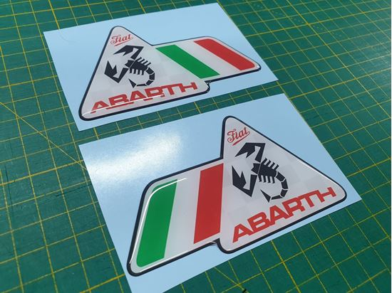 Picture of Fiat Abarth wing Badges 100mm