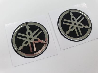 Picture of Yamaha Tank Gel Badges 45mm