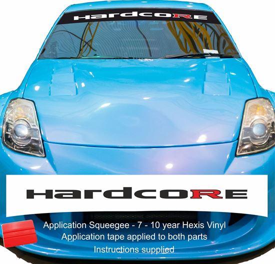 "Picture of ""Hardcore"" GTR  Sunstrip  / Sticker"