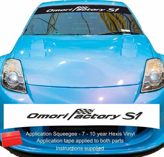 "Picture of ""Omori Factory S1"" S  tune Skyline  Sunstrip  / Sticker"