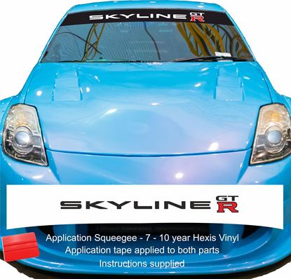 "Picture of ""Skyline GTR"" R32 /R33 Skyline  Sunstrip  / Sticker"