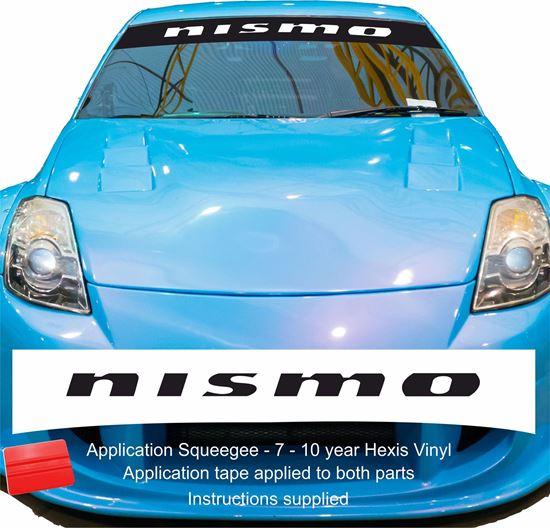"""Picture of """"Nismo""""  Sunstrip  / Sticker"""