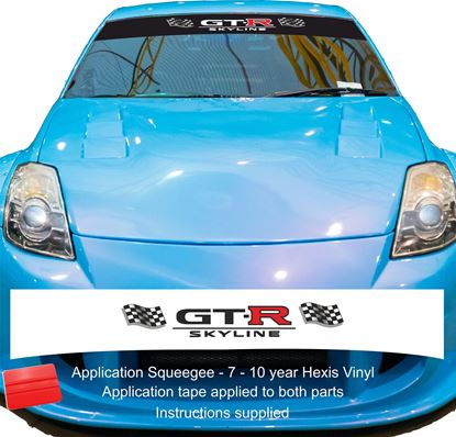 "Picture of ""GT-R Skyline"" R33 GTR LM  Sunstrip  / Sticker"