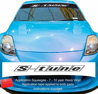 "Picture of ""S- tune"" Sunstrip  / Sticker"