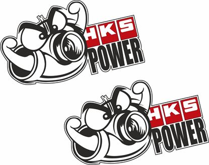 """Picture of """"HKS Power"""" Decals / Stickers"""