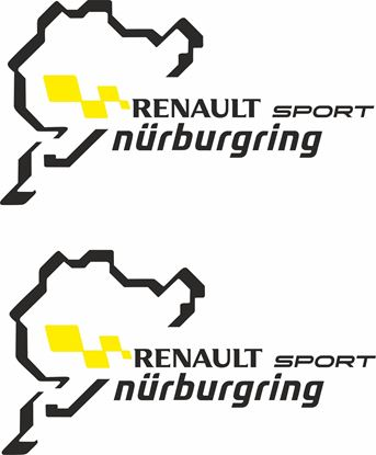 "Picture of ""Renault Sport Nurburgring"" Decals  / Stickers"