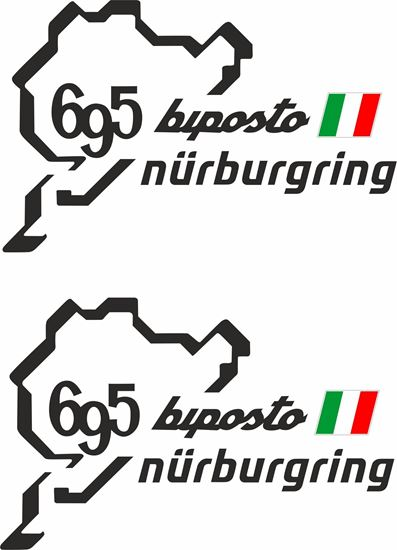 Picture of Fiat 695 Biposto Nurburgring Decals / Stickers