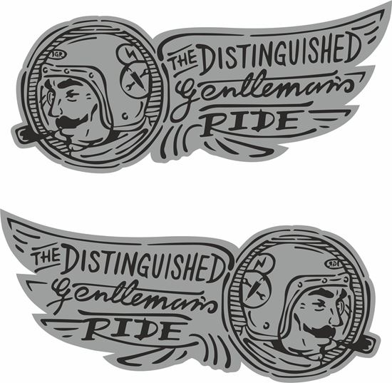 """Picture of """"The Distinguished Gentlmans Ride"""" Decals / Stickers"""