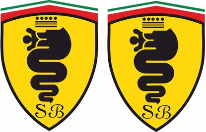 Picture of Alfa Romeo Wing Decals / Stickers