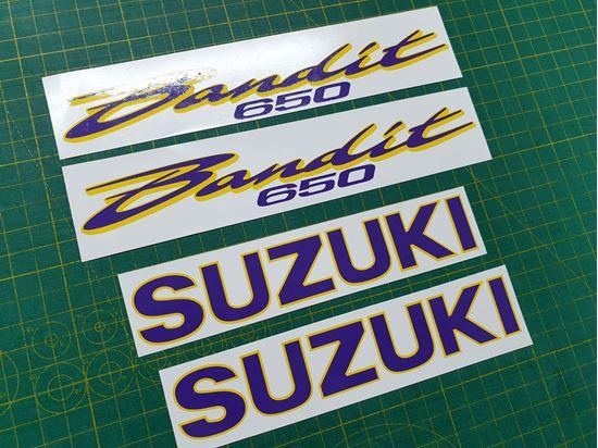 Picture of Suzuki Bandit GSF650 Decals / Stickers Yellow & Purple