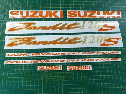 Picture of Suzuki Bandit GSF 1200S Decals / Stickers Orange & Gold