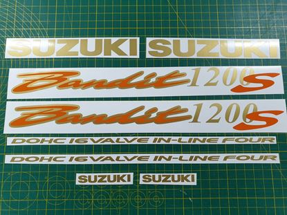 Picture of Suzuki Bandit GSF 1200S Decals / Stickers Gold & Orange
