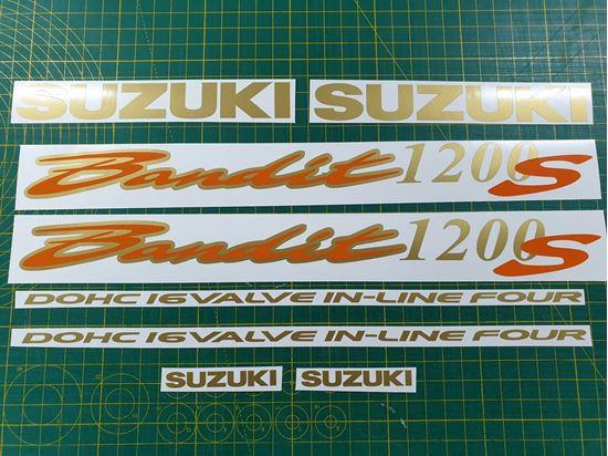Picture of Suzuki Bandit GSF 1200S Decals / Stickers Gold & Orange
