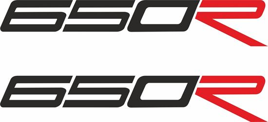 "Picture of Triumph Daytona ""650R""  Decals / Stickers"