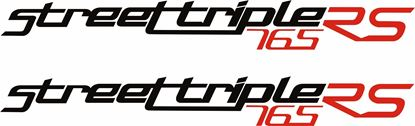 "Picture of Triumph ""Street Triple 765 RS""  Decals / Stickers"