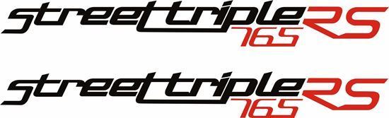 """Picture of Triumph """"Street Triple 765 RS""""  Decals / Stickers"""