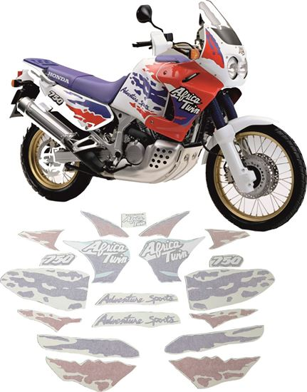 Picture of Honda XRV African Twin 750 1994 full Restoration Decals / Stickers
