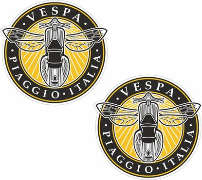 "Picture of ""Vespa Piaggio Italia"" Decals / Stickers"