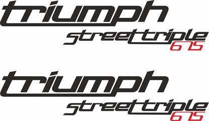 "Picture of ""Triumph Street Triple 675"" Decals / Stickers"