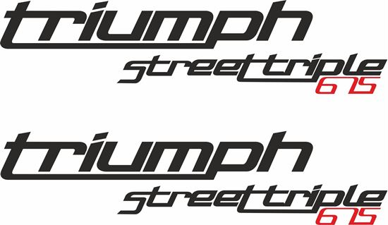 """Picture of """"Triumph Street Triple 675"""" Decals / Stickers"""