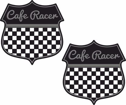 """Picture of """"Cafe Racer"""" Shield Decals / Stickers"""