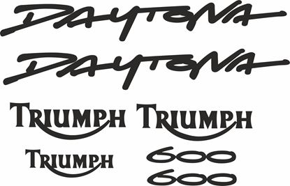 Picture of Triumph Daytona 600 replacement Decals / Stickers