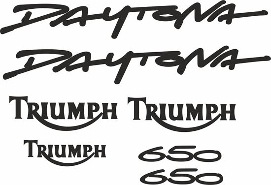 Picture of Triumph Daytona 650 replacement Decals / Stickers
