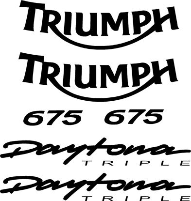 Picture of Triumph 675 Daytona Triple replacement Decals / Stickers