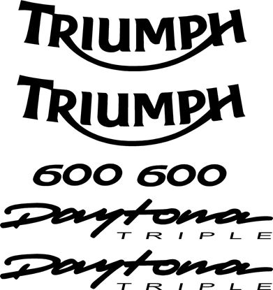 Picture of Triumph 600 Daytona Triple replacement Decals / Stickers